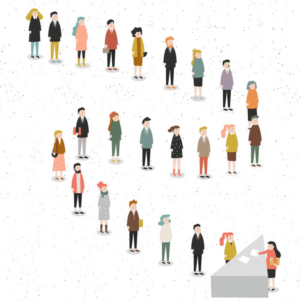 Retargeting, line of people