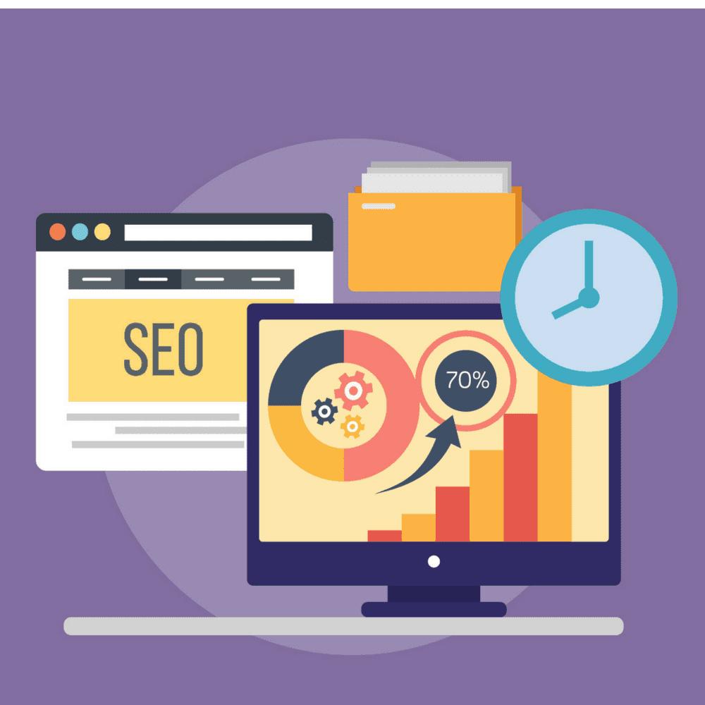 Search Engine Optimization, computer screens